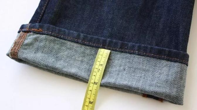 Как укоротить джинсы с сохранением фирменной строчки...