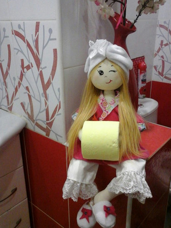 Оригинальные держатели для туалетной бумаги. Выкройка и мастер-класс...