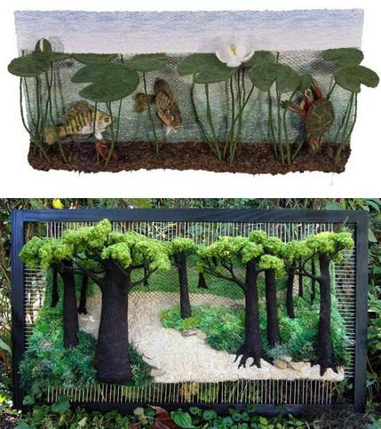 Когда гобелены оживают: тканые 3Д картины Мартины Келерин...