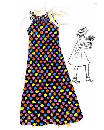 Летние платья и сарафаны с простыми выкройками...