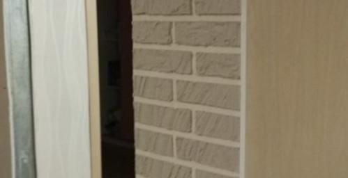 Имитация кирпичной стены своими руками...