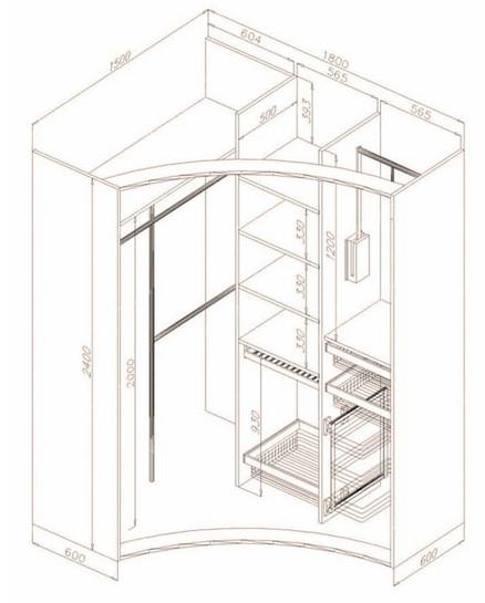 26 отличных идей с чертежами для создания шкафа мечты...