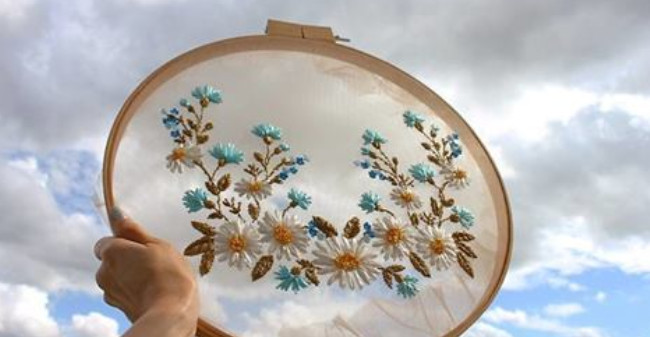 Парящая под небесами: воздушная вышивка от Krista Decor...