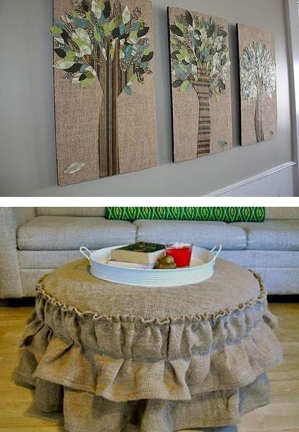 Отличные идеи декора из мешковины на любой случай...