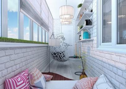 Райский уголок у себя дома или как преобразить застекленный балкон...