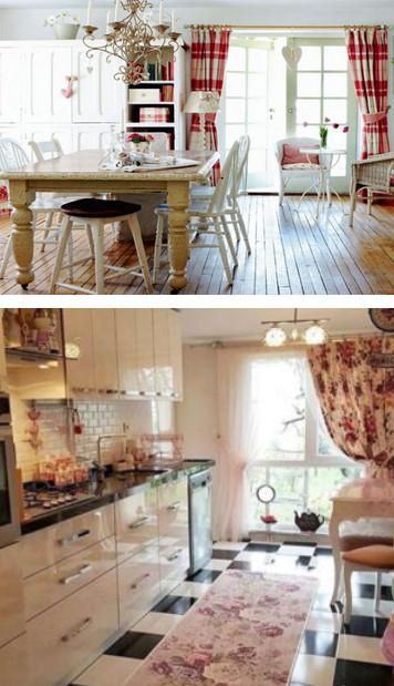 Шторы для кухни: 35 идей модного комбинирования...