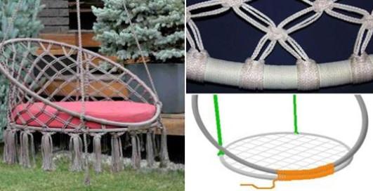 Из шнура и труб можно сделать полезную вещицу для сада...