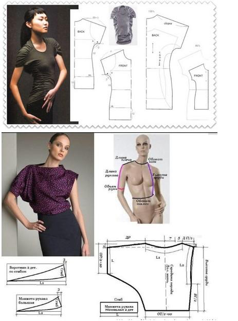 15 цельнокроеных модных выкроек для не умеющих шить... Убедитесь в том, что шить может каждый!