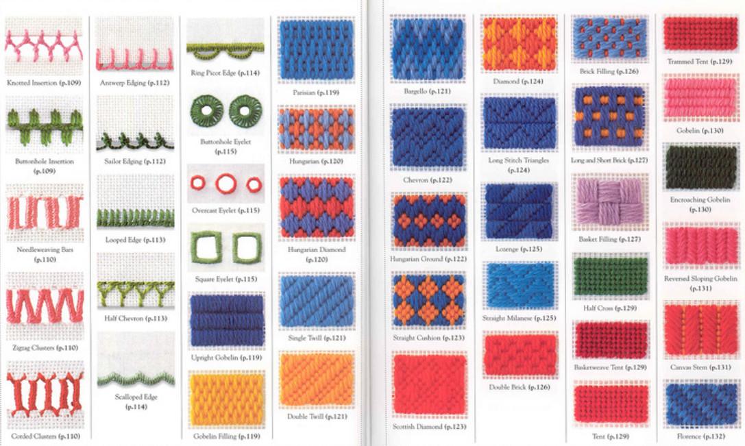 Более 200 стежков для вышивки: потрясающая подборка! Великолепная подборка для рукодельниц!