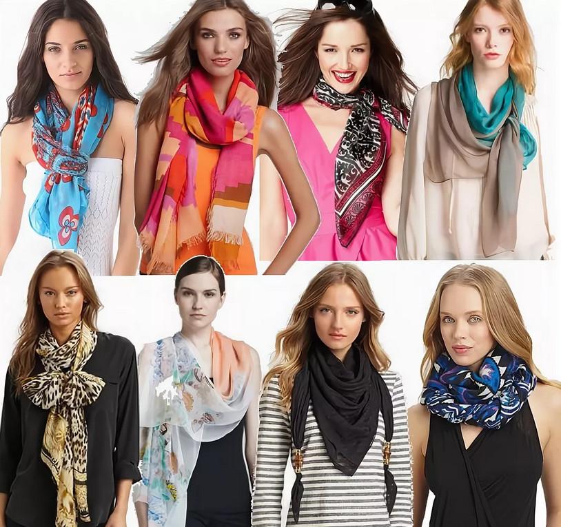 Как красиво носить шарф