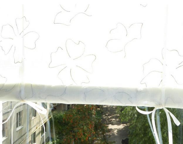 Делаем оконные шторки на липучках (мастер-класс)... Не думала, что получится так красиво!