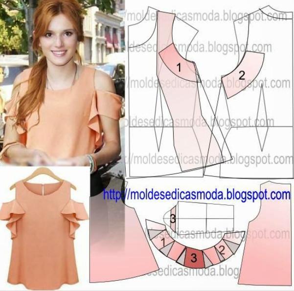 Реально БОЛЬШАЯ подборка модных легких блузок с выкройками, которые можно сшить за пару часов! (Часть 3)