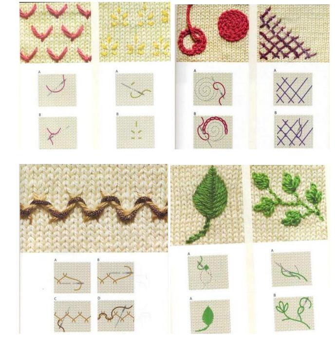 Вышивать на трикотаже очень просто! Посмотрим примеры (Часть 1)...