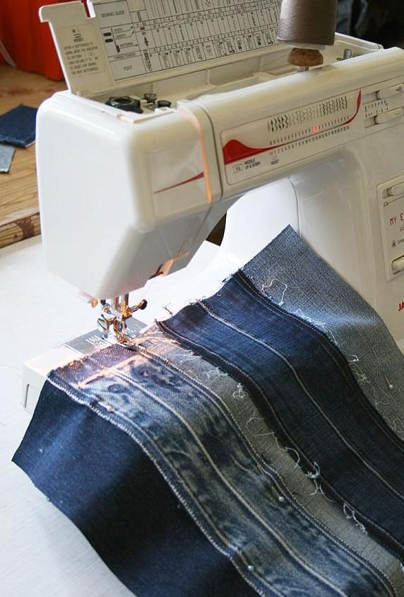 Делаем джинсовую сумку из поясов... Это даже красивее, чем я думала!
