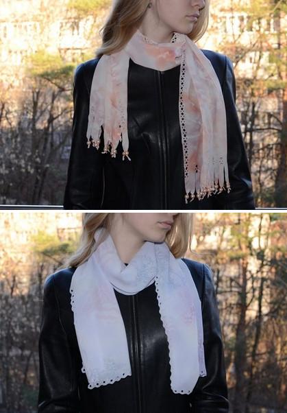 Легкий и красивый шарфик всего за 10 минут... Стильно!