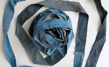 Плетем корзину из старых джинсов... Проще простого!