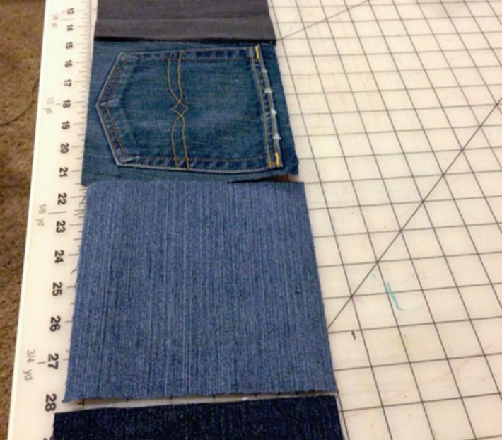 Она разрезала старые джинсы на квадраты... То, что получилось, пригодится всем!
