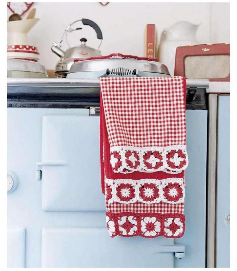 Бабушкин квадрат на кухне и дома... Уютная красота!