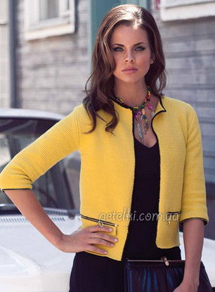 Тунисское вязание: элегантный ретро жакет... В таком жакете вы будете неотразимы!