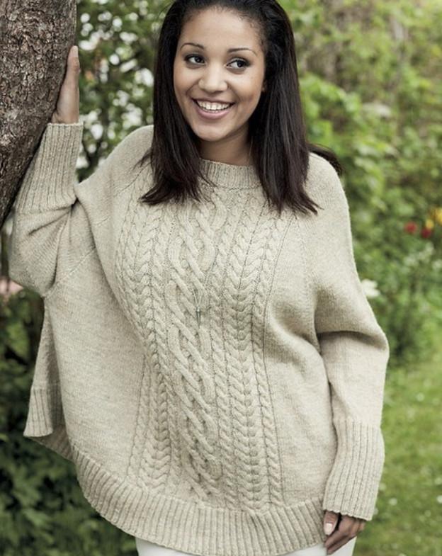 Оригинальные пуловеры... 5 интересных моделей с описанием и схемами!