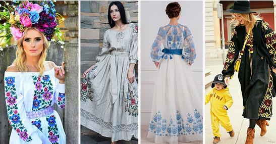 Современные платья с вышивкой! Пока досмотрела до № 9, замечталась совсем…