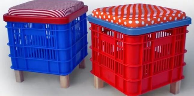 20 идей для применения пластмассовых тарных ящиков дома и на даче.