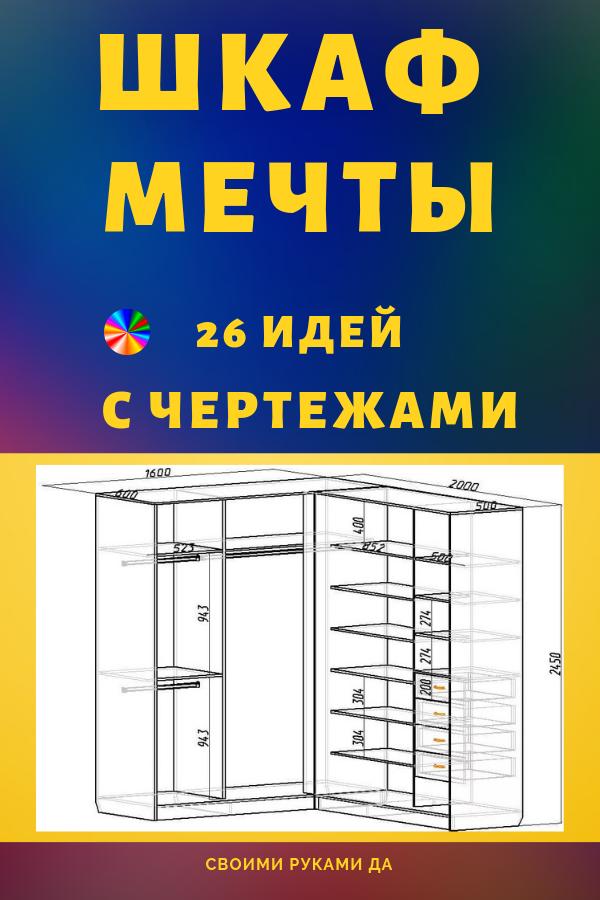 Эскиз шкафа с размерами. Все больше и больше людей стали предпочитать шкафы-купе огромным гардеробам и комодам. Они компактны, экономичны, удобны в использовании своими руками и помогают сохранить пространство в помещении.