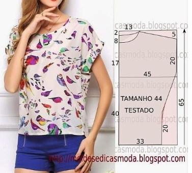 Простые выкройки - интересные варианты красивых летних блузок...