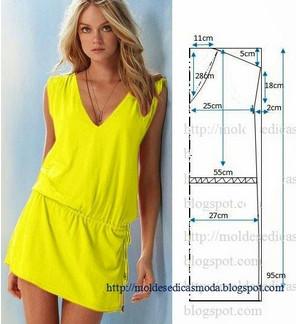 Выкройки платья для лета своими руками