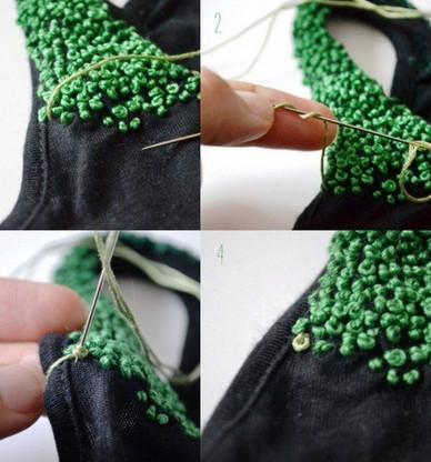 Симпатичные идеи, которые вам понравятся: узелковая вышивка на одежде и аксессуарах...