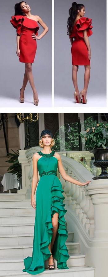 Ах эти чудные воланы: элегантно, стильно и женственно...