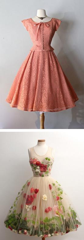 Очарование винтажных платьев: 18 моделей для женственного образа...