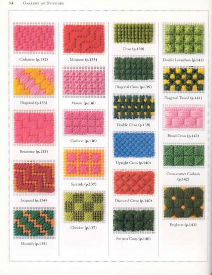 В копилку рукодельницам: большая коллекция стежков для вышивки...