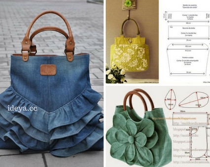 Замечательная подборка сумок из ткани + схема...