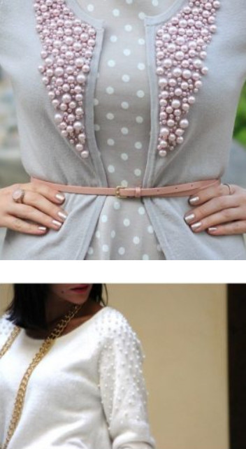 Всего-то горсть бусин, а в результате — красота. 20 идей декора одежды...
