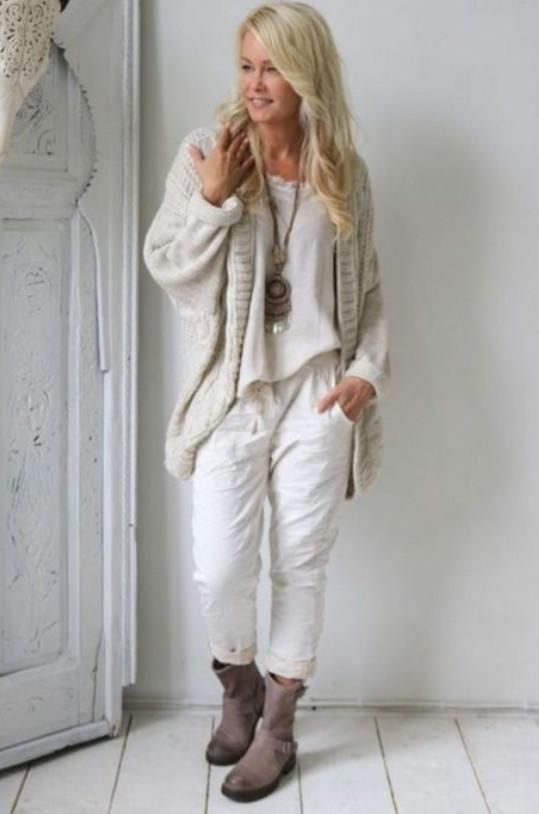 15+ стильных образов для зрелых дам в стиле бохо — Осень 2018 будет жаркой...