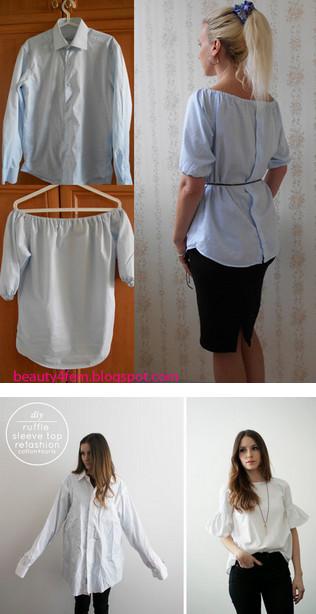 Шедевры из мужской рубашки...