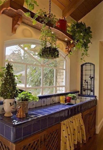 Столешница, выложенная плиткой: 20+ уютных идей для дома...