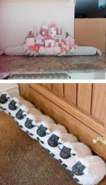 Чтобы из окна не дуло. Креативные подушки от сквозняка...