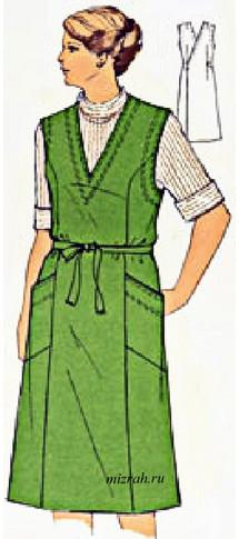 Платье-фартук, идеи и выкройки...