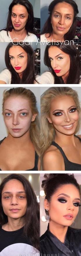 Сила макияжа: 23 впечатляющих примера...