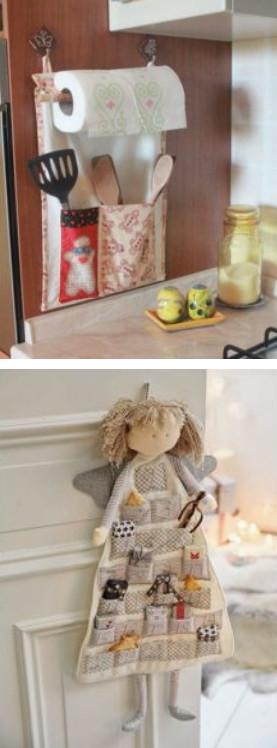 Текстильные декор для дома из остатков ткани. Нежно и уютно...