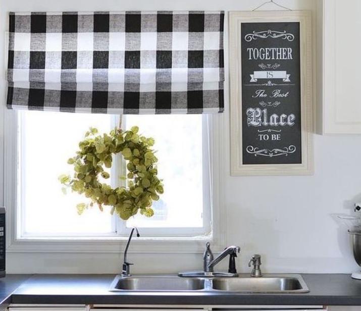 Шторы для кухни: 35 идей модного комбинирования + мастер класс своими руками
