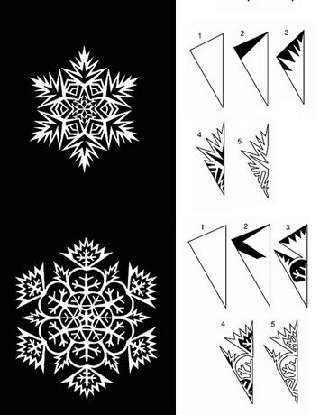 Снежинки из бумаги (350 вариантов) - самая большая подборка в рунете! Новый год не за горами...