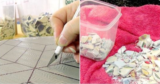 Не спешите выбрасывать осколки разбившихся чашек: сделайте уникальный элемент декора