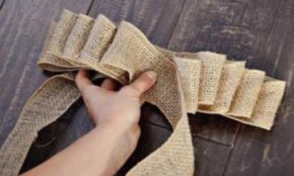 Елочные украшения из мешковины: простые идеи и мастер классы
