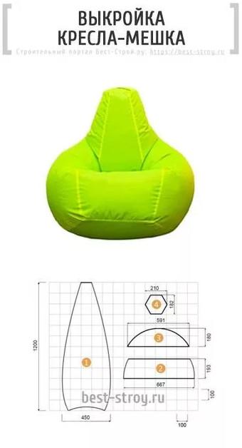 Как сшить кресло мешок: идеи + мастер класс своими руками