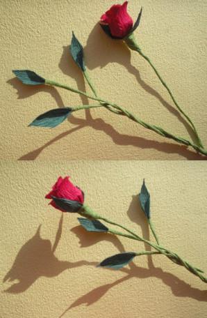 Розы из гофрированной бумаги пошагово. 8 марта.