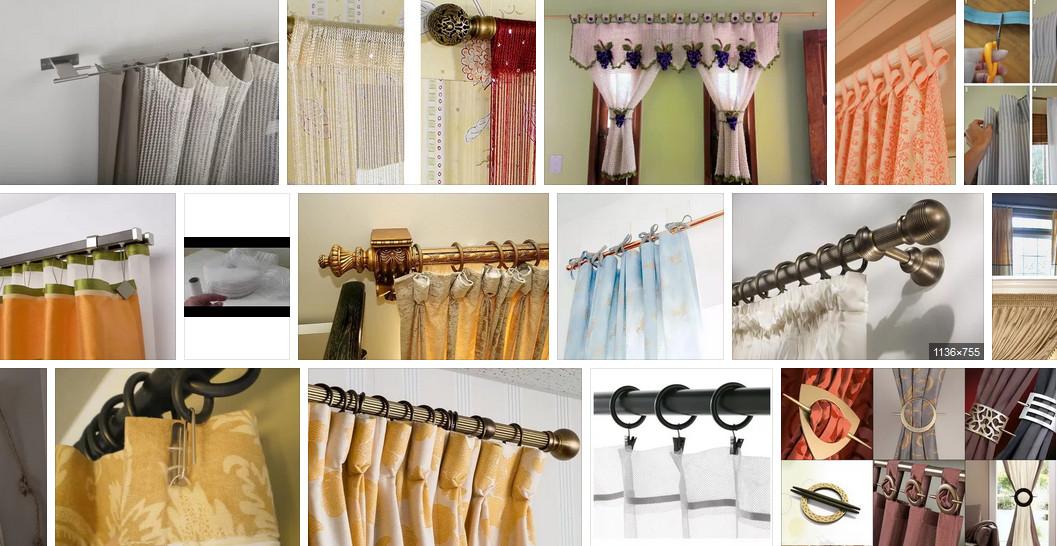 Шторные лайфхаки (шторы без карниза, необычный крепеж для штор, эксперимент с тесьмой и т.д.)