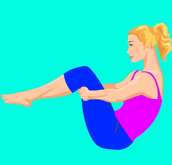"""Упражнение """"Перекаты"""": Простой способ вернуть спине подвижность."""